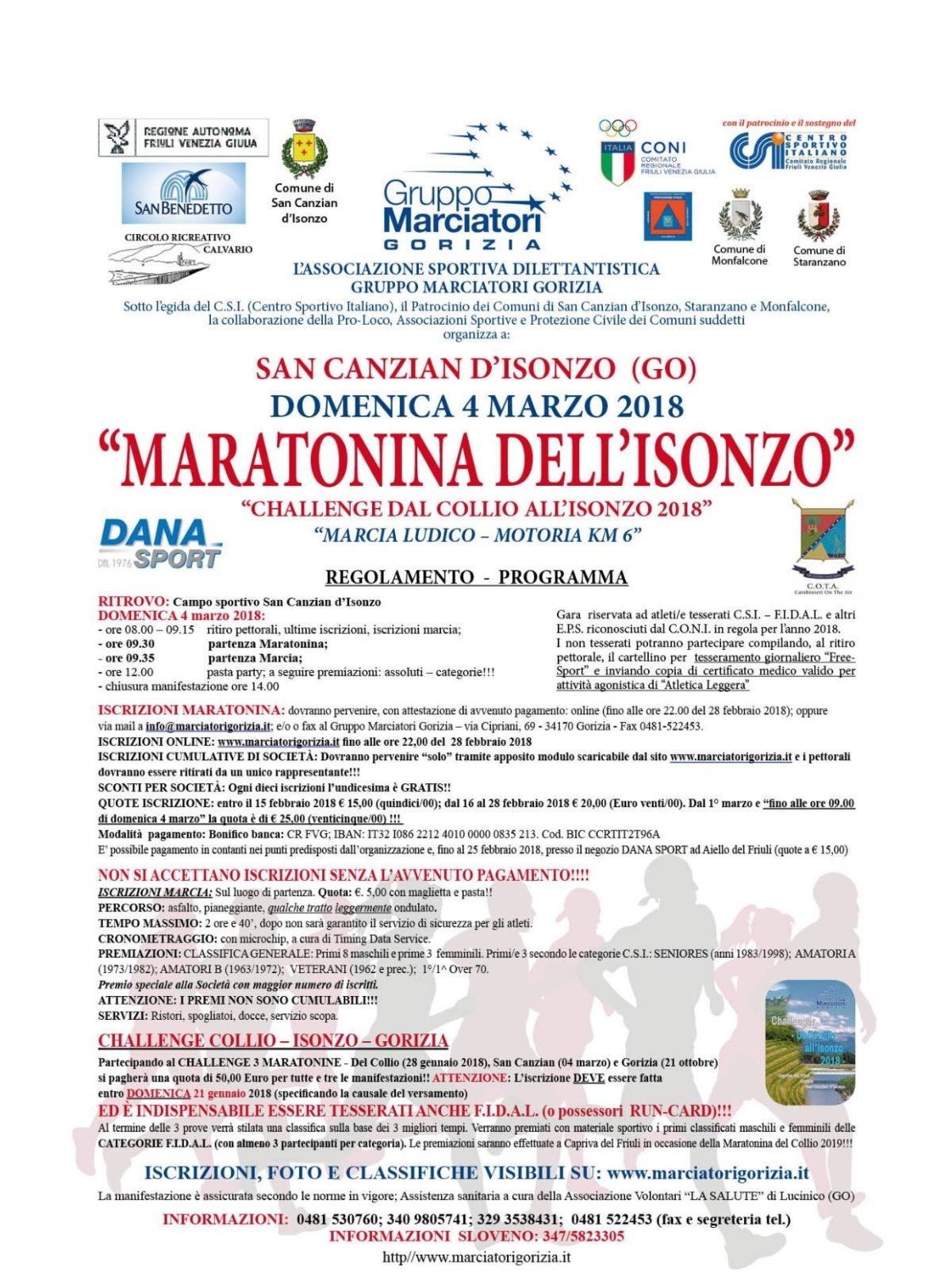 Marcia a Pieris di San Canzian d'Isonzo (GO) del 25 Marzo 2018